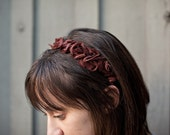 Brown Rosettes Headband