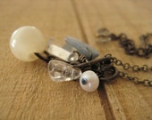 Ice Princess Cluster Necklace