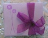 Purple Posies Mini Teeny Cards Set