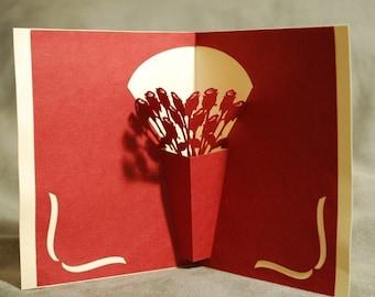 Rose Vase Pop-Up Card