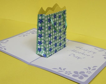 Mother's Day Gift Bag Pop-Up Card