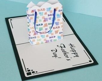 Father's Day Gift Bag Pop-Up Card