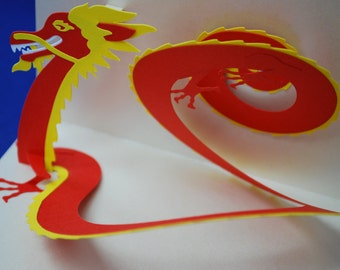 Chinese Dragon Pop-Up Card