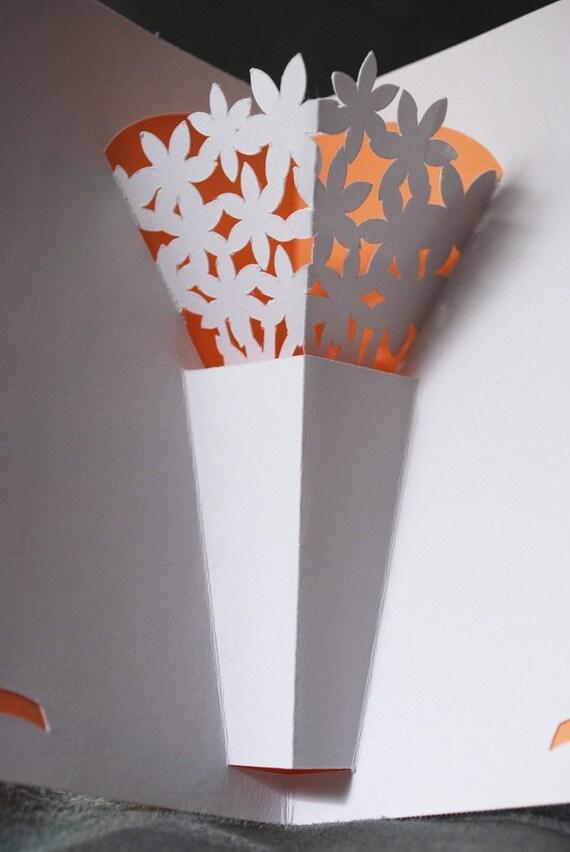 flower vase pop up card. Black Bedroom Furniture Sets. Home Design Ideas