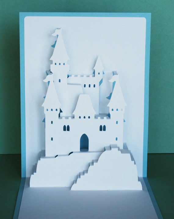 Princess Castle Pop-Up Card by PeadenScottDesigns on Etsy