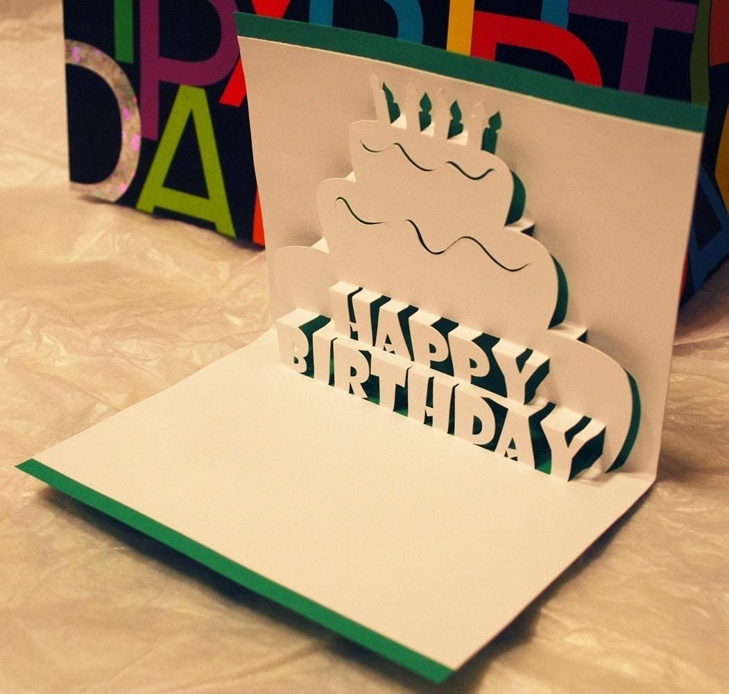 Birthday Card Handmade Pop Up Cake
