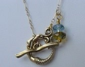 Enchantress.  Mermaid Toggle Necklace in Gold