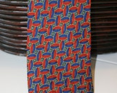 Vintage Tiffany and Co. Football Silk Tie