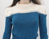 Vintage Handmade Knit Mohair Sweater - XS\/Sm