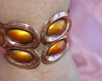 Vintage Matisse Renoir Copper Cuff Bracelet