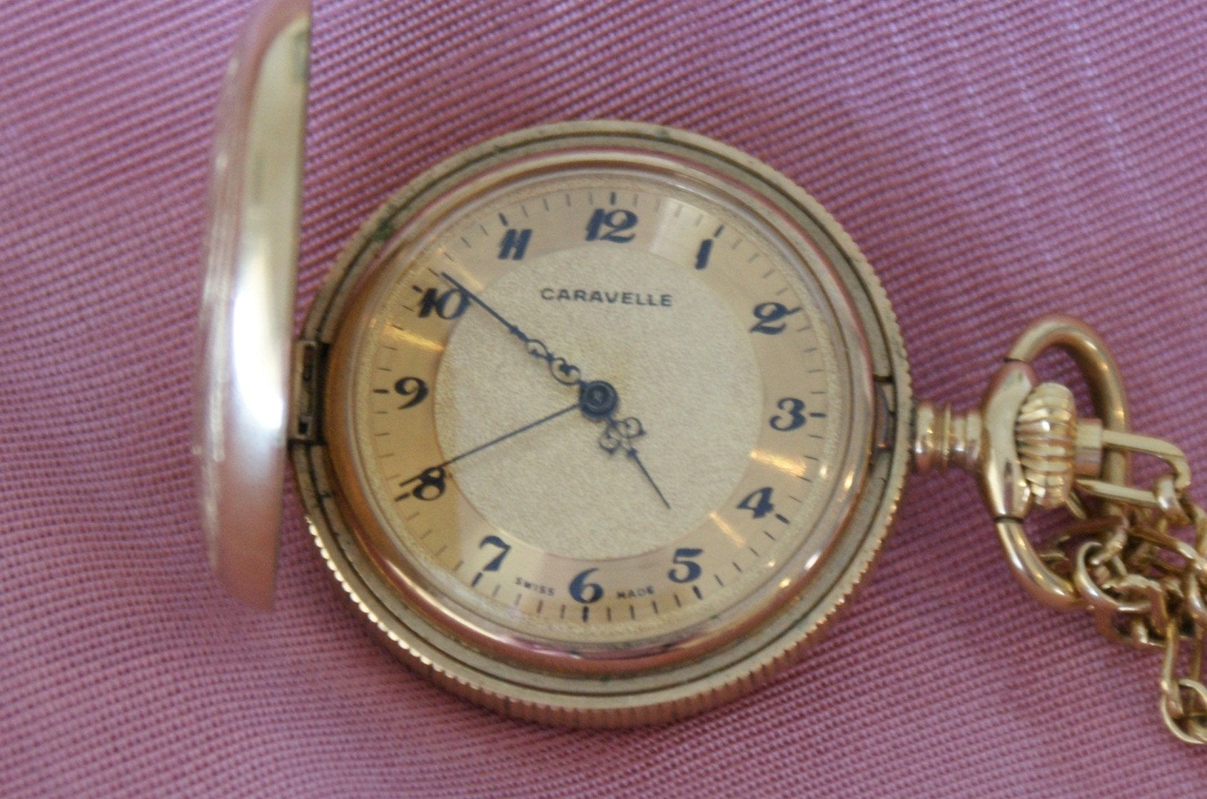 Gold Tone Swiss Caravelle Watch Pendant