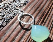 Eternity - Beautiful Chalcedony Gemstone and Sterling Silver Necklace
