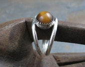 Golden Tigers Eye Band - Sterling Unisex sz 9 SALE