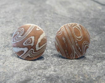 Mokume-Gane Earrings
