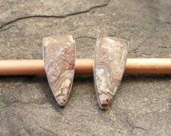 Sterling Silver with Agate Earrings OOAK