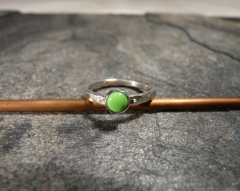Sterling Silver and Gaspeite Stackable Ring