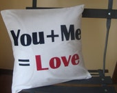 You Plus Me Pillow Cover