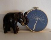 Dandelion Seed Hand Embroidery Hoop