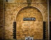 8x10 Harry Potter's Gateway Platform 9 3/4 Plus a free bookmark