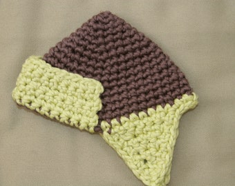 Organic Crochet Baby Hat with Earflaps