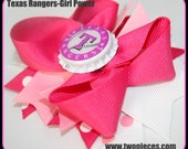 Two Nieces Texas Rangers Boutique Bow in Pink World Series