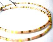 pretty pastel beaded hoop earrings-FREE US shipping