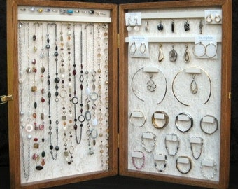 Jewelry Display Case  Ex Large - Cu stom order   Pick your layouts    Unique Jewelry Display Cases