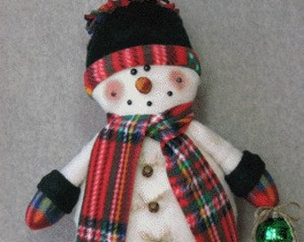 "Snowman pattern:  ""Happy Holidays"" - #464"