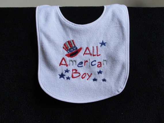 All American Boy Bib- 4th of July