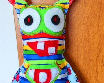 Superhero Tooth Fairy Pillow, Personalized Pillow that Hangs From a Door Knob - Custom Made to Order With Your Childs Initial