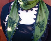 Green Scooter Skinny Scarf