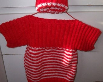 Knitted in Australia Girl's Jumper and Beanie