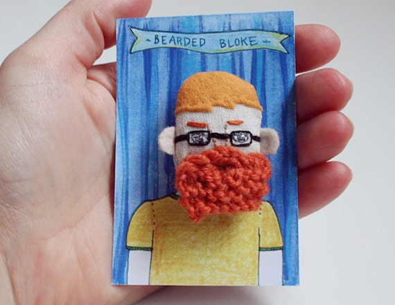 brooch ginger bearded man with glasses