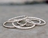 Skinny stacking Ring in Sterling Silver, Midi Ring, Thumb ring