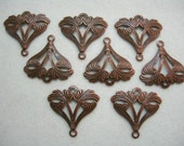 Copper Plated Victorian Brass Drops Earring Findings - 8