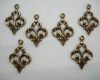 Gold Plated Dainty Fleur Drops Earring Findings - 6
