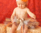 Fall Beauty Tutu CUSTOM MADE TO ORDER Photography props Up to 10 inch length Brown Green Orange Cream
