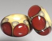 Scarlet Valentine  Bead Pair Lampwork Beads