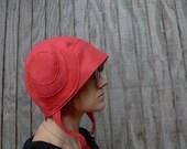 meerwiibli coral bamboo felt little leia hat FREE SHIPPING - meerwiibli