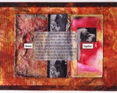 Beauty Together - Collage/Mixed Media Love and Inspiration Greeting Card