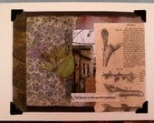 The Beauty of Painful Transition - Collage/Mixed Media Sympathy and Inspiration Greeting Card