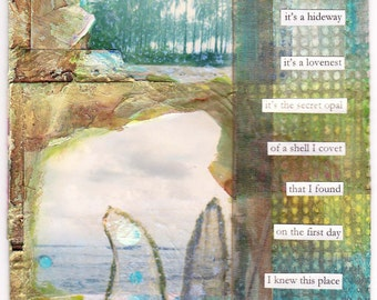 What I Want - large blank inspirational poetry art collage card/frameable print