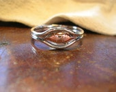silver wire and molten copper ring