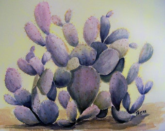 Prickly Pear Watercolor Painting