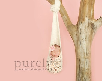 Printable KNITTING PATTERN Hanging Cocoon - newborn, baby, photography prop, instant download