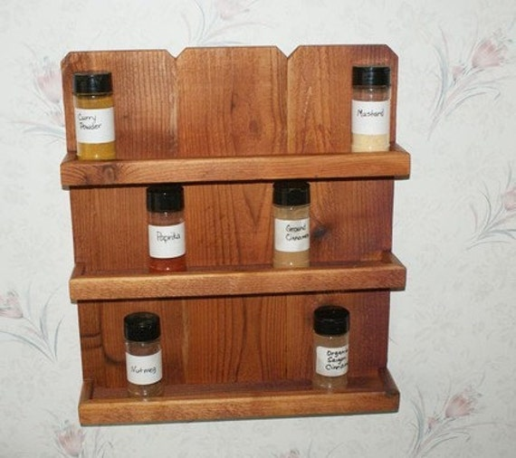 Handmade Spice Rack: Custom Cedar Spice Rack For KATHI GASTON By LuckyMargo On Etsy