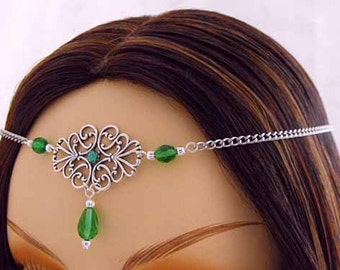 Silver elven circlet, silver circlet, bridal silver crown renaissance circlet wedding tiara wiccan circlet bohemian halo bridal silver crown