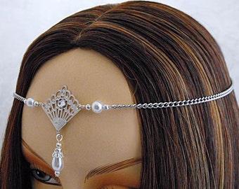 PEARL Circlet, silver elven circlet silver circlet bridal silver crown renaissance circlet silver wedding tiara wiccan circlet bohemian halo
