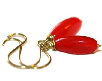 Red Glass Earrings - 'Sinfully Loving'