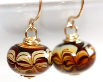 Murano Glass Earrings - 'Swirlicious Confusion'